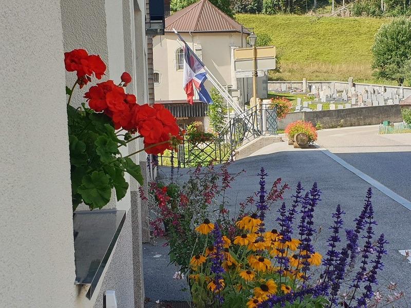 Pont Charlegne et drapeaux
