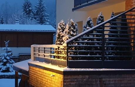Terrasse N°11 en hiver Résidence Les Tavaillons