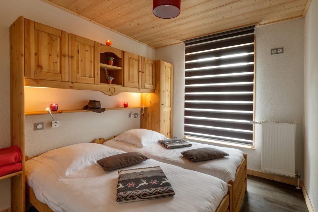 Chambre 2 lits jumeaux N°15 ou 25 Résidence Les Tavaillons