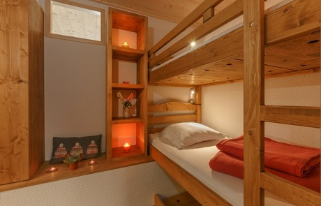 Mountain corner with bunk beds N° 12 and 22 Residence Les Tavaillons