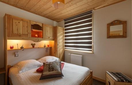 Chambre lit double N° 15 et 25 Résidence Les Tavaillons