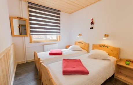 Twin bed room N°11 and 21 Residence Les Tavaillons