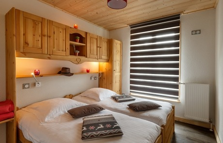 Twin bed room N°15 and 25 Residence Les Tavaillons