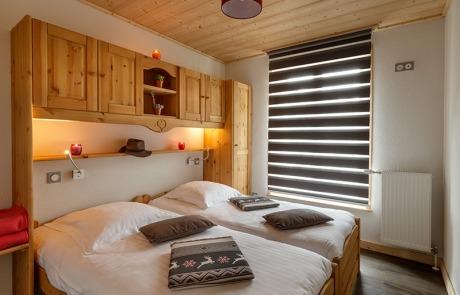 Chambre lits jumeaux N°15 et 25 Résidence Les Tavaillons