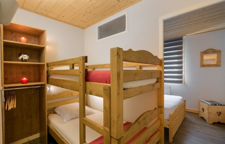 Bunk bed corner cabin N° 15 and 25 Residence Les Tavaillonss