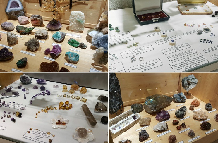 Exposition minéraux bijouterie Trabbia Vuillermoz