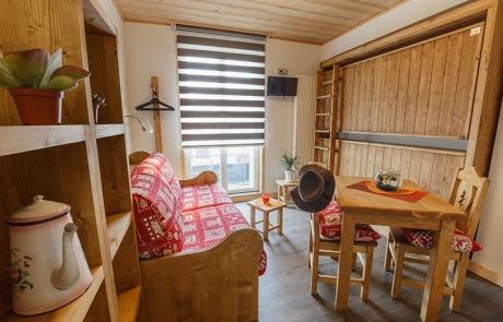 Studio canapé Rapido ou lits rabattables N° 13 et 23 Résidence Les Tavaillons