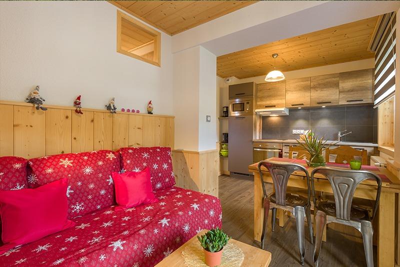 Salon couchage 2 personnes, coin repas cuisine N°12 et 22 Résidence Le Tavaillons